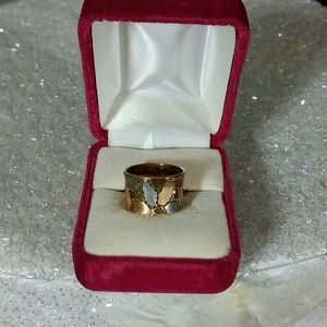 10k multi color band ring